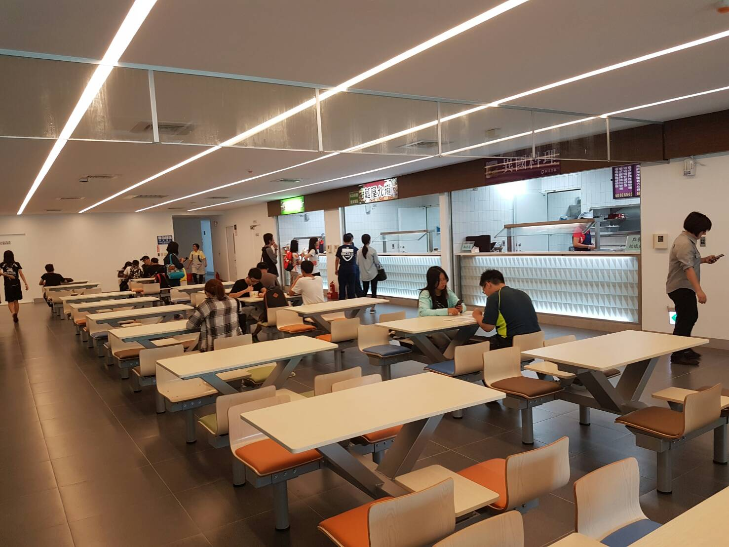 Food Street student restaurant on the 2nd floor of W Building
